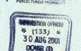 United Kingdom – border stamp from the port of Dover, 2001 post image