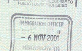 United Kingdom – stamp from Heathrow Airport, 2001 post image