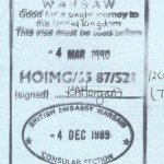 United Kingdom – visa, 1989 thumbnail