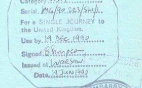 United Kingdom – visa, 1990 post image