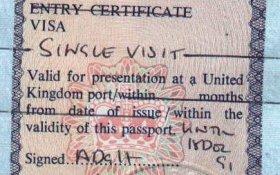 United Kingdom – visa, 1991 post image