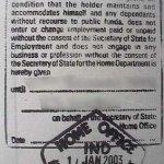 United Kingdom – business visa, 2003 thumbnail